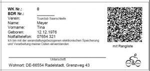 QR-Code z.B. auf einer RTF-Wertungskarte