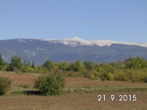 Mont Ventoux aus der Ferne betrachtet